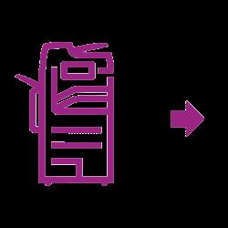 Violettes Altalink-Symbol