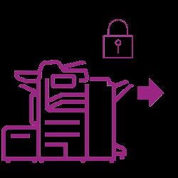 Altalink-Schloss Grafik violett