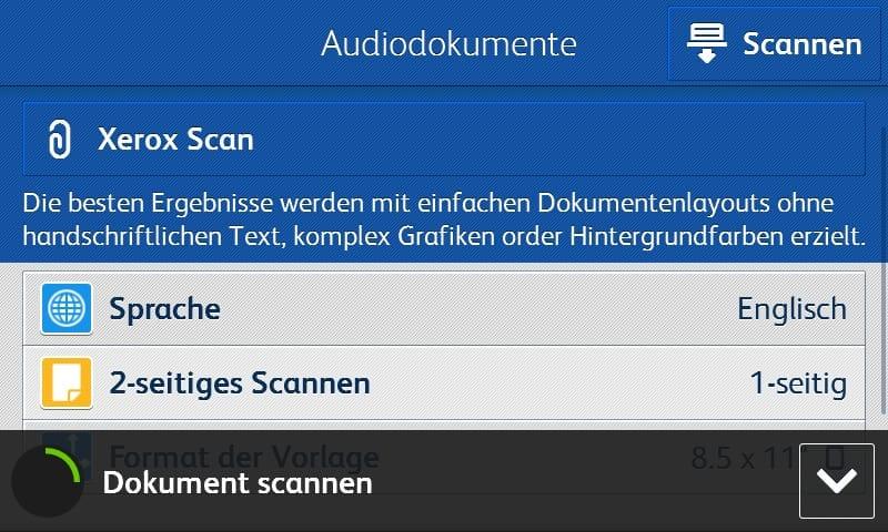 Audio App-Bildschirmabbild