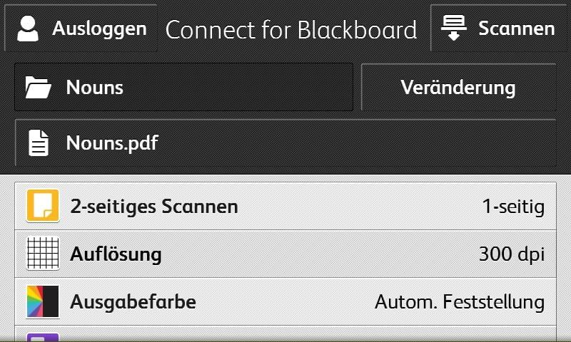 Bildschirmfoto Verbinden für Blackboard