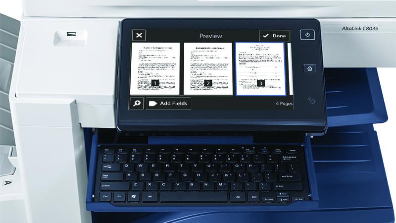 Scanner-Bildschirm DocuSign-Anwendung