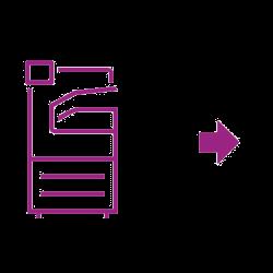 Symbol violetter Phaserpfeil
