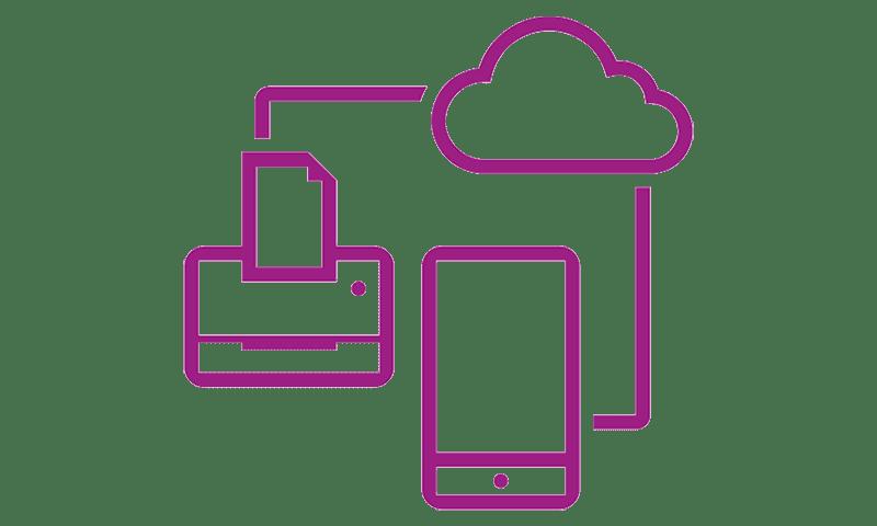Netzwerk-Symbol violett