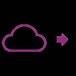 Wolkensymbol violett
