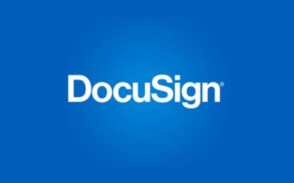 Docusign-Etikett