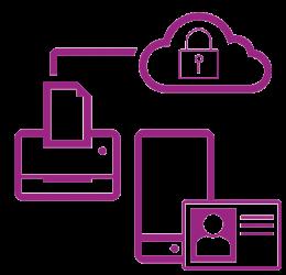 Violettes Symbol sicheres Netzwerk